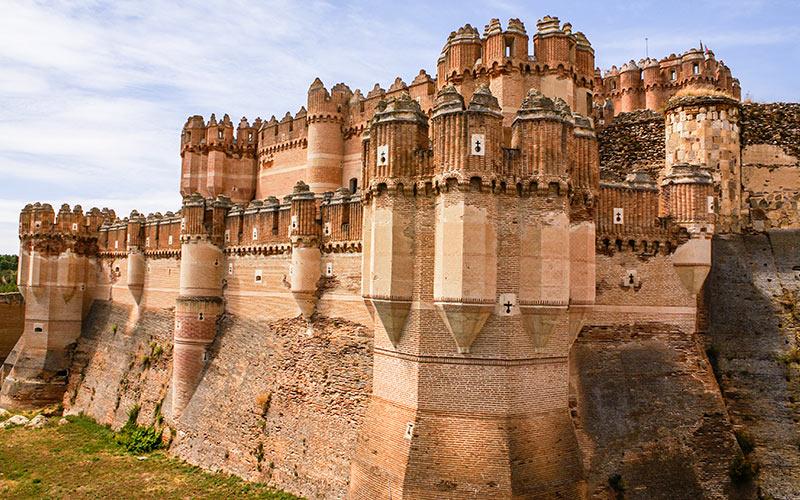 Pueblos más bonitos de Segovia castillo de Coca