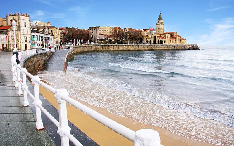 Paseos marítimos de España Gijón