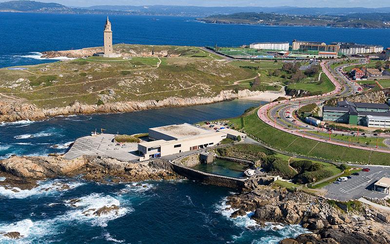 Faro de Hércules en La Coruña