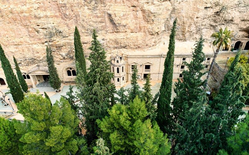 Vista aérea del Santuario de Calasparra