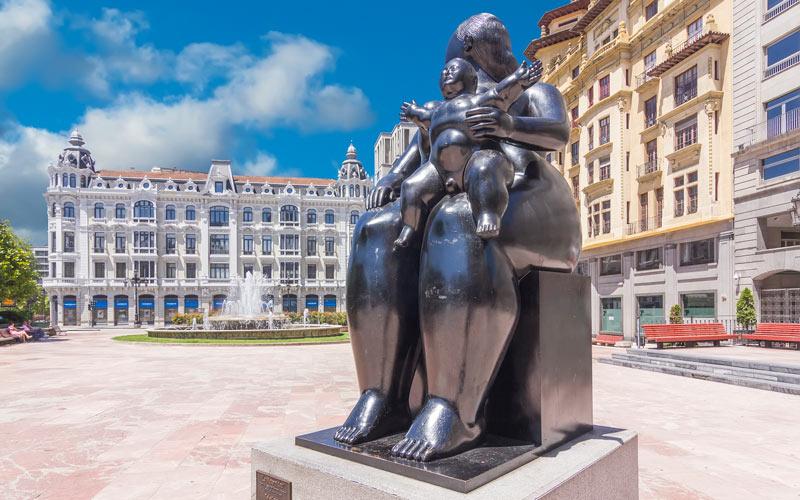 Escultura Fernando Botero que ver en Oviedo