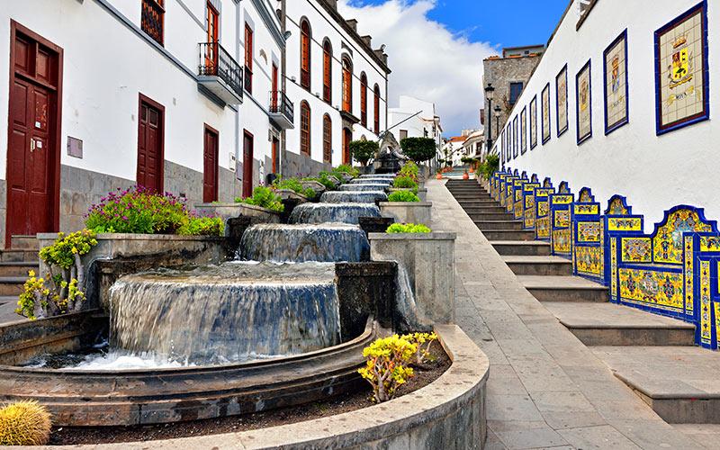Paseo de Gran Canaria en Firgas fuentes más curiosas de España