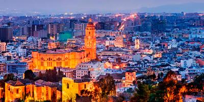 Paisaje nocturno que ver en Málaga