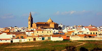 Panorámica de Moguer, pueblo de Huelva