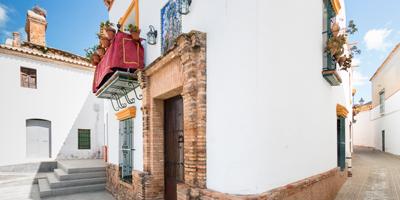 Calle típica andaluza en Niebla