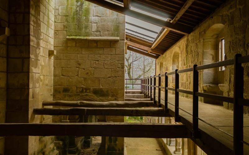 Parte del interior del monasterio