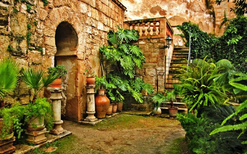 Jardín del baño árabe de Palma