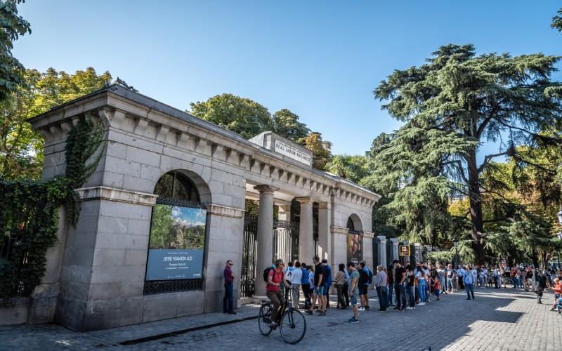 Entrada al Real Jardín Botánico de Madrid