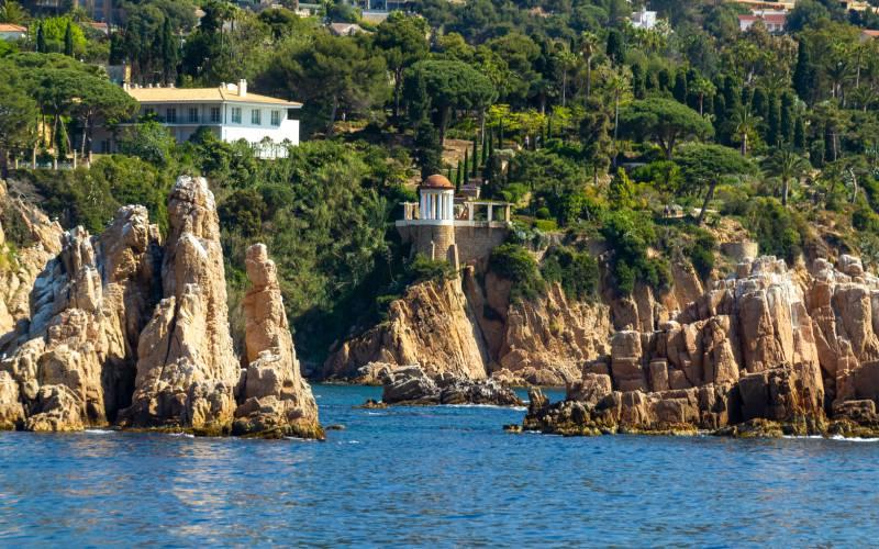 Jardín de Marimurtra desde el Mediterráneo
