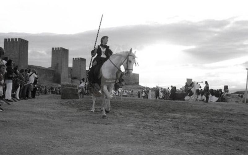Caballero fuera de las murallas de Artajona