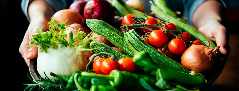 Jornadas de la Verdura de Tudela: cesta de verduras