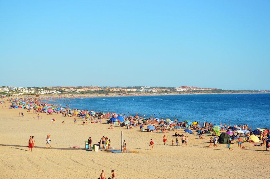 Playa de la Barrosa en Novo Sancti Petri