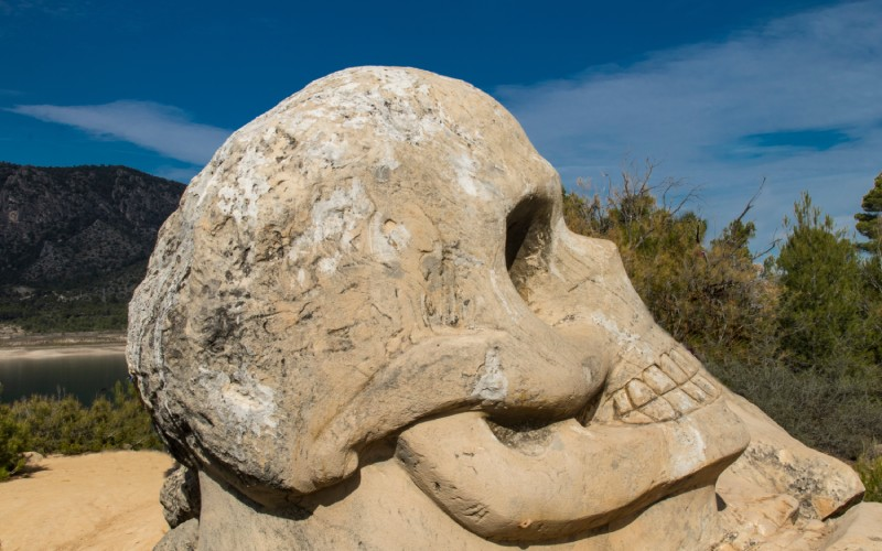 La Cara de la Muerte, la escultura más popular del recorrido