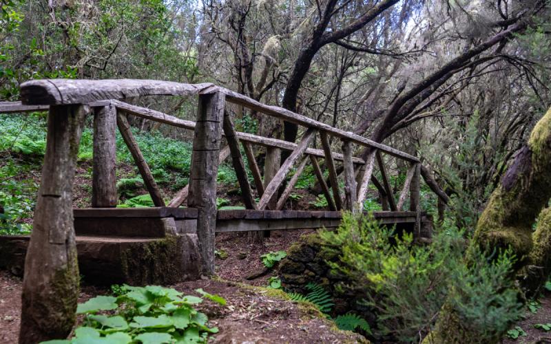 Puente en la ruta de La Llanía de El Hierro