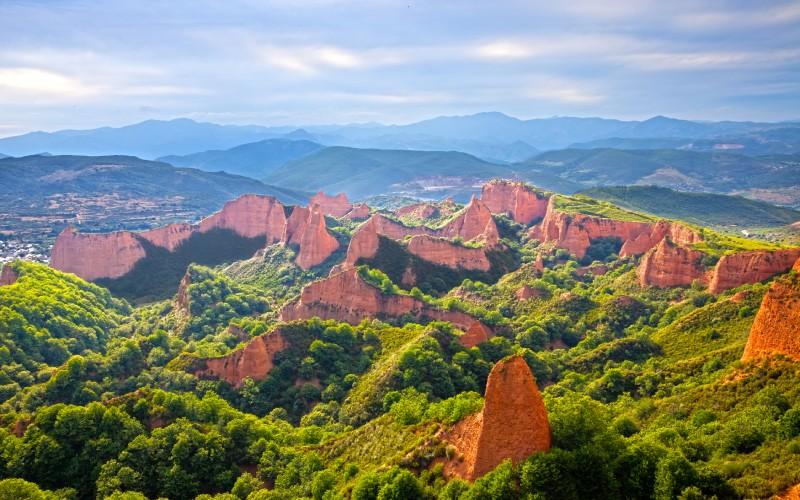 El impresionante paisaje de Las Médulas