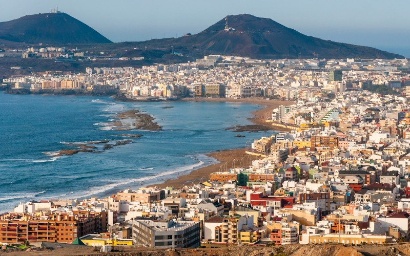 Panorámica de Las Palmas de Gran Canaria
