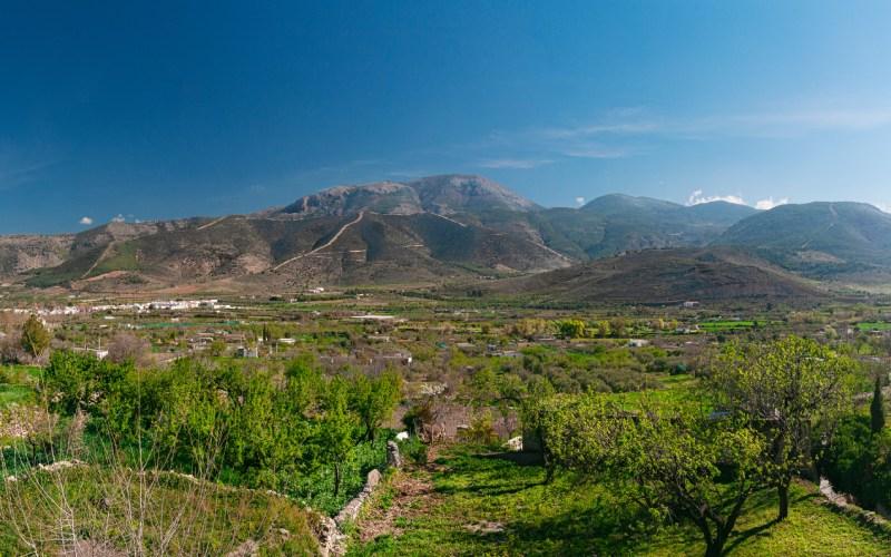 Preciosas vistas del Valle Laujar de Andarax en Almería