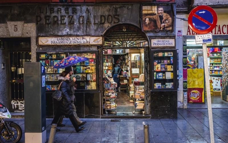 Librería Perez Galdós en Hortaleza, abierta en 1942 por sus descendientes