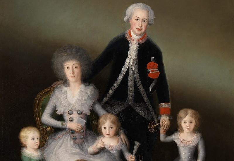 Los duques de Osuna y sus hijos, Goya (1787-88)