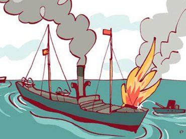 La gran explosión del Cabo Machichaco
