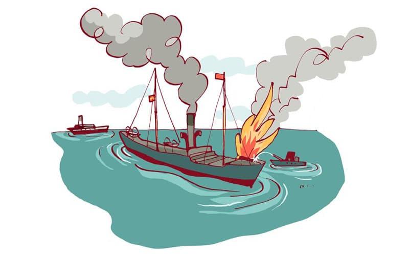 explosión del Cabo Machichaco