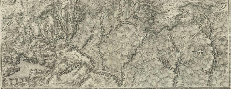 Mapa del Canal del Guadarrama en su primer tramo