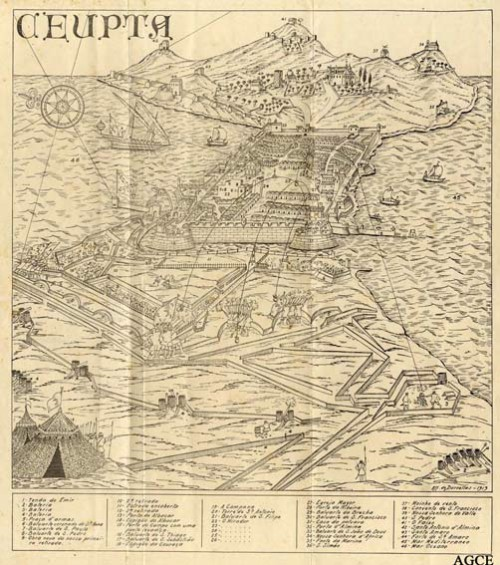 Mapa de Ceuta de 1700 (circa)