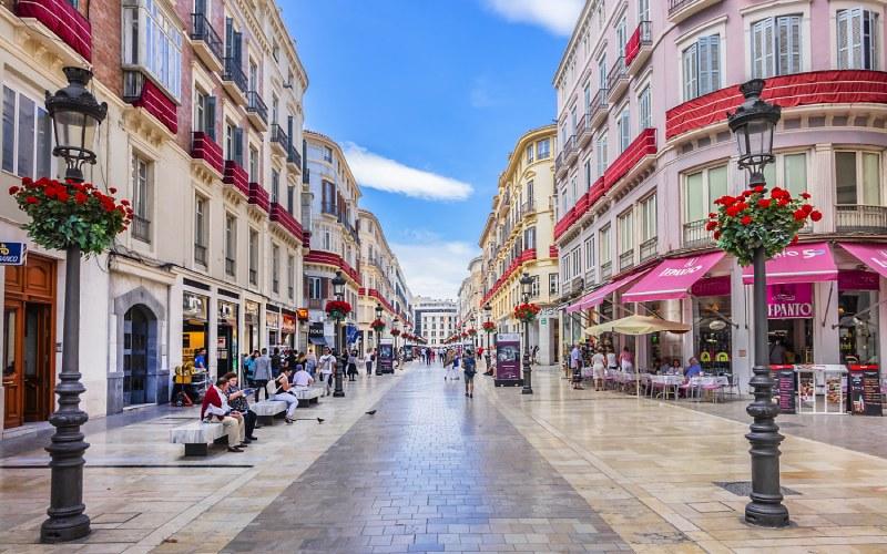 Calle Marqués de Larios, en Málaga