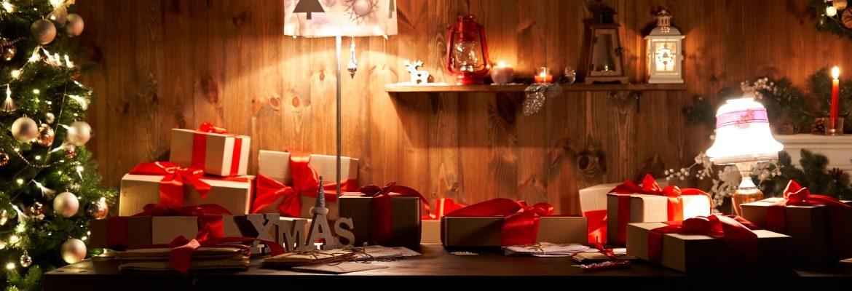 Una mesa típica de Navidad