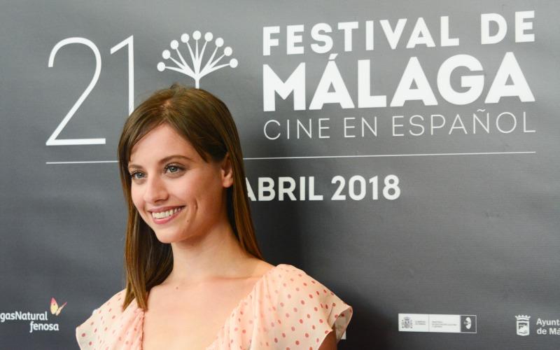 Michelle Jenner en el festival de Málaga