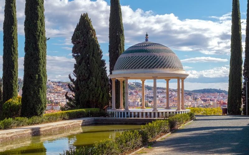 Mirador de los años 20 del Jardín La Concepción, uno de sus lugares de mayor interés