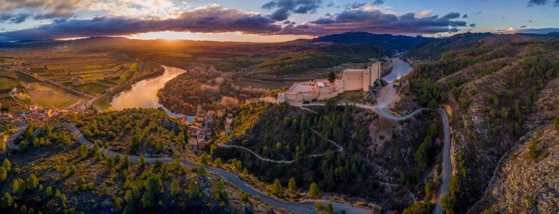 Vista aérea del castillo de Miravet