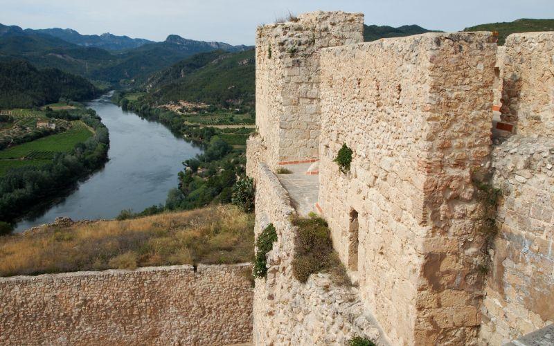 Vistas desde del castillo de Miravet