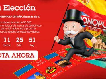 ¿Quieres que tu pueblo salga en el tablero del Monopoly España? ¡Vota!