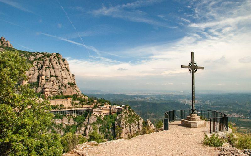 Vista aérea del Monasterio de Montserrat