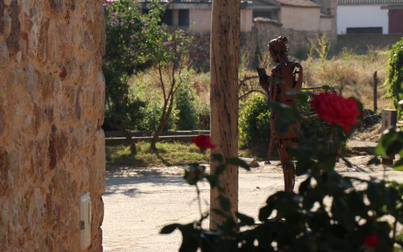 Estatua de Ángel Mateos en Morille