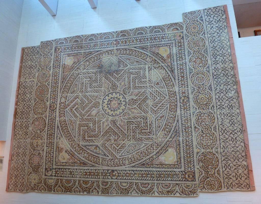 Mosaico de la villa romana de Requejo de Santa Cristina de la Polvorosa