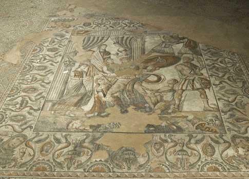 Mosaico de la Villa Romana de La Olmeda, que hay que ver en Saldaña