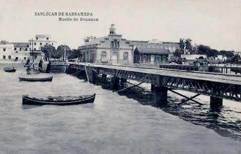 foto antigua muelle sanlucar barrameda