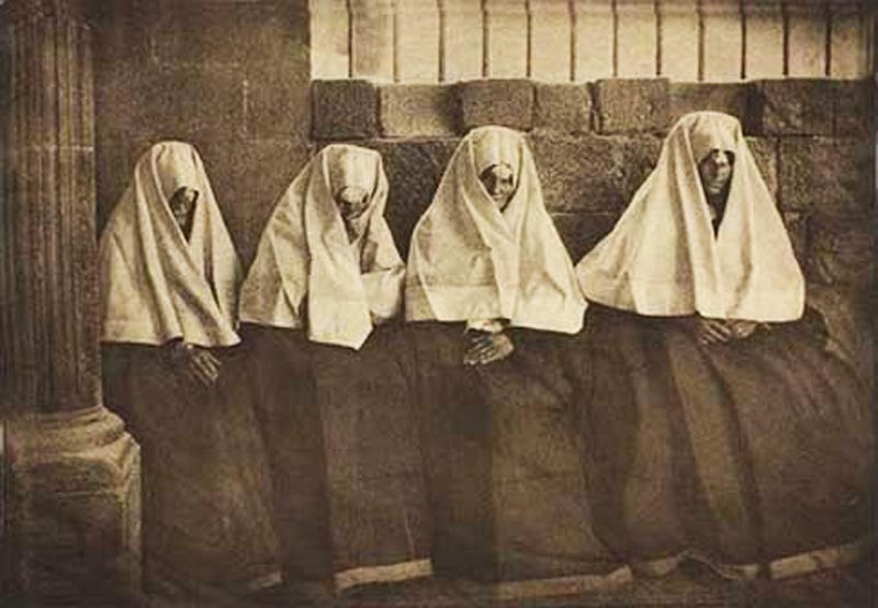 Fotografía antigua de mujeres de Ansó