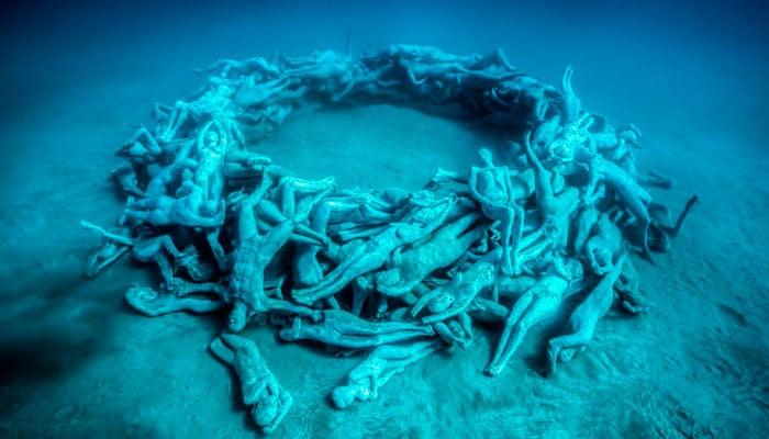 remolino humano museo submarino lanzarote
