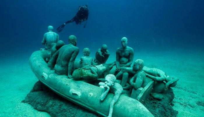 Balsa Lampedusa museo submarino lanzarote