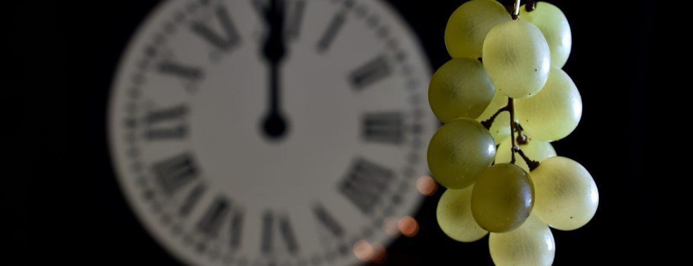 Tradicionales uvas en Nochevieja