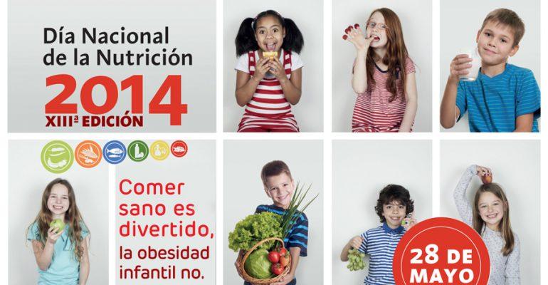 """""""Comer sano es divertido, la obesidad infantil no"""" – Dia Nacional de la Nutrición"""