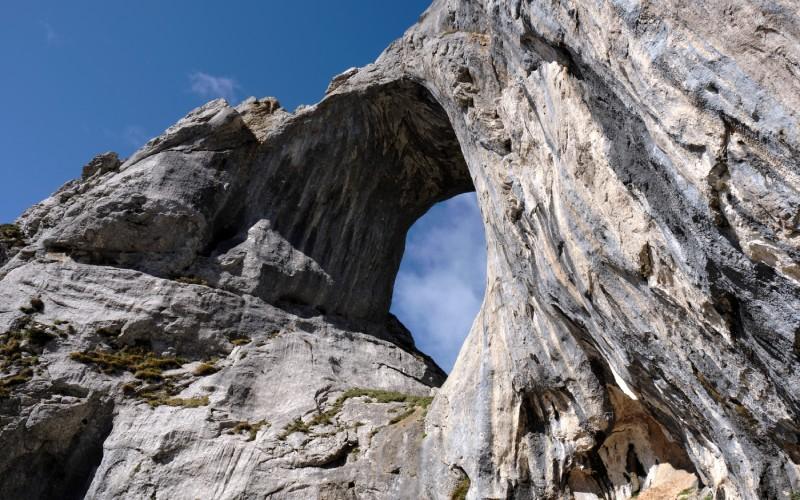 Impresionante primer plano del Ojo de Buey, contemplado desde abajo