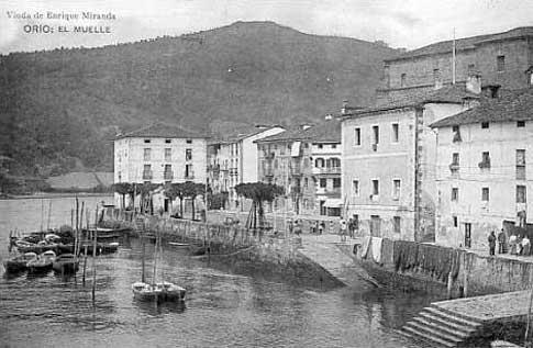 Muelle de Orio antiguamente