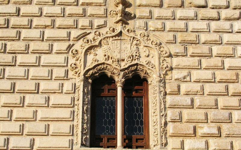 Detalle de una ventana del palacio de Cogolludo