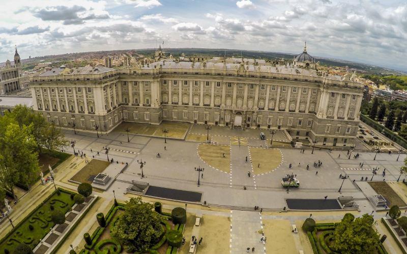 Vista aérea del Palacio Real de Madrid