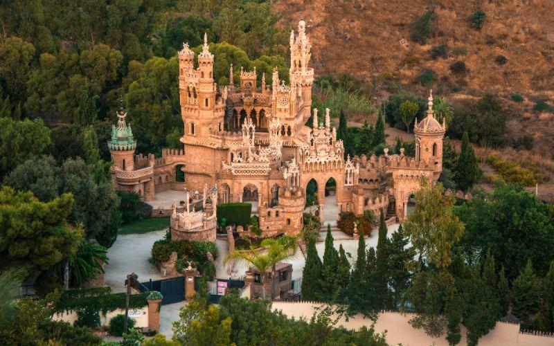 Vista aérea del castillo de Colomares
