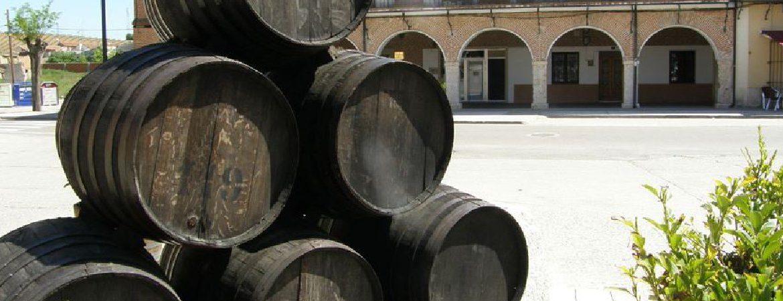 Barriles en plaza de La Seca